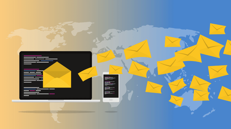 Email newsletters being distributed